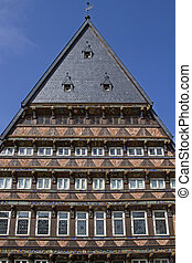 house of Knochenhaueramt in Hildesheim - The old city of...