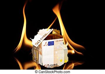 House of money burning