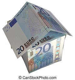 House of Money - House of money made of Euro banknotes