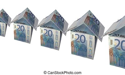 House of money made of Euro banknotes - (16:9 ratio)