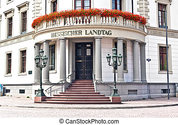 house of politics, the Hessischer Landtag in Wiesbaden