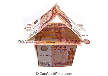 House of Russian 5000 banknotes