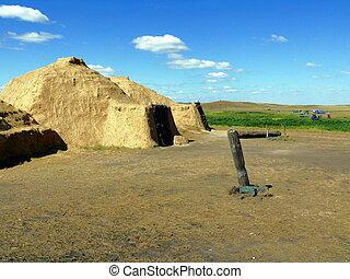 house of stone age (reconstruction) - Arkaim