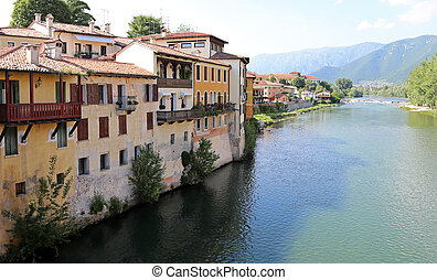 House of the city of Bassano City in Italy
