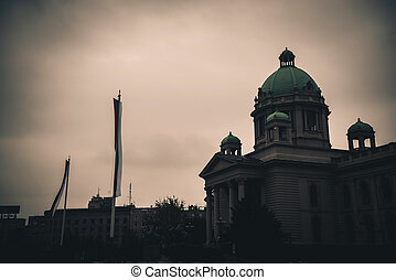 House of the National Assembly. Belgrade, Serbia. Color tone tuned