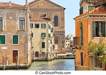 House on a canal in Venice, Italy