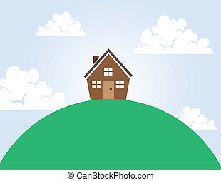 House on a Hill - House on top of a large hill