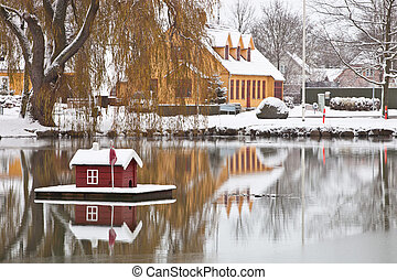 House on a pond