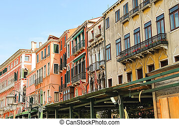 House on a street in Venice, Italy