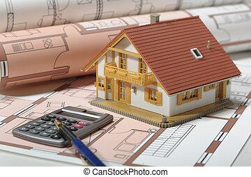 house on blueprint