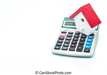 House on calculator, Mortgage Calculator