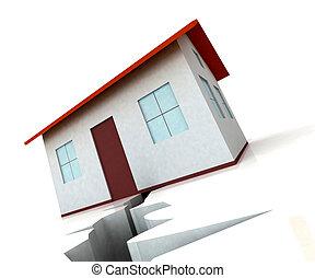 House On Crack Shows Housing Market Decline - House On Crack...