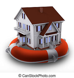 House on lifebuoy