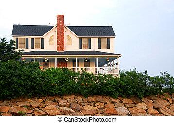 House on ocean shore