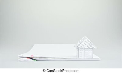 House on stack old paperwork time l - House on stack old...