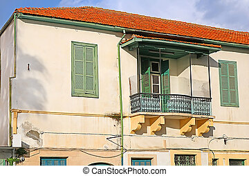 House on the embankment in Larnaca, Cyprus