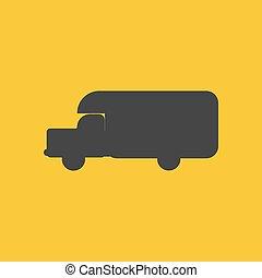 House on wheels trailer silhouette