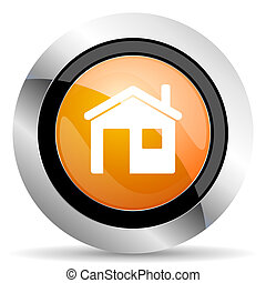 house orange icon home sign
