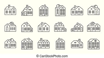 house outline icon, pixel perfect vector illustration