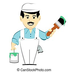 House Painter With Paintbrush