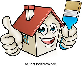 House Painting Cartoon Character