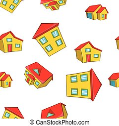 House pattern, cartoon style