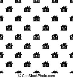 House pattern vector