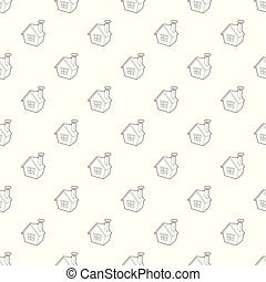 House pattern vector seamless