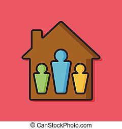 house people vector icon