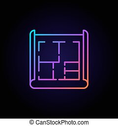 House plan colorful icon
