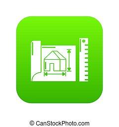 House plan icon green