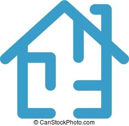 House Plan Logo Template. Floorplan Vector Design. Home...