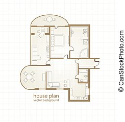 House Plan. Vector illustration
