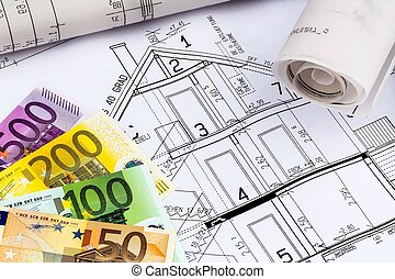 house plan with euro notes
