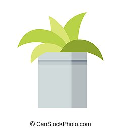 House Plant Growing in Pot, Design Element for Natural Home Interior Decoration Vector Illustration