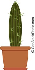 House plant icon, flat style