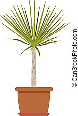 House plant icon, flat style
