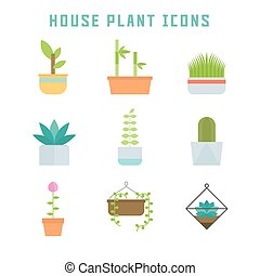 house plant icons