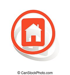 House plate sign sticker, orange