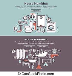 House plumbing homepage mockup