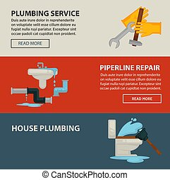 House plumbing service and pipeline repair promotional Internet pages