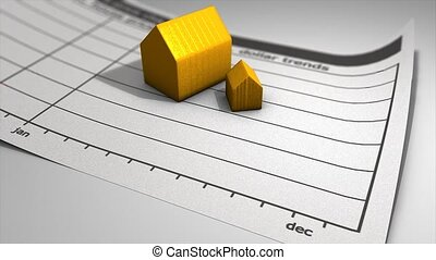 House price chart graphic animation.