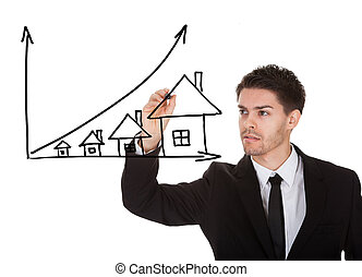 House prices growth concept