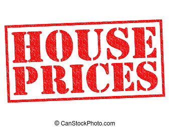 HOUSE PRICES red Rubber Stamp over a white background.