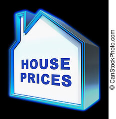 House Prices Representing Apartment Housing 3d Rendering