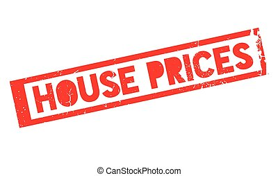 House Prices rubber stamp. Grunge design with dust scratches...