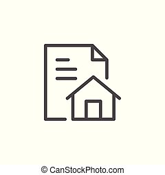 House project line icon isolated on white. Vector...