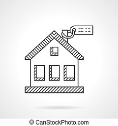 House purchase thin line vector icon