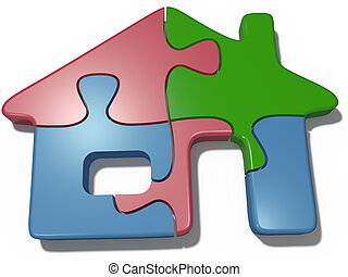 House puzzle real estate solution