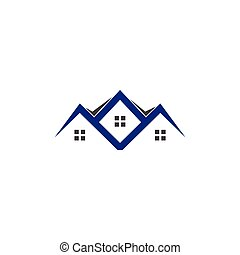 House real estate logo icon design illustration